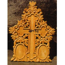 Wood carved icon panels